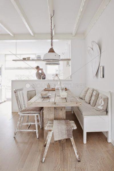 Mesa rústica para el comedor   Decorar tu casa es facilisimo.com