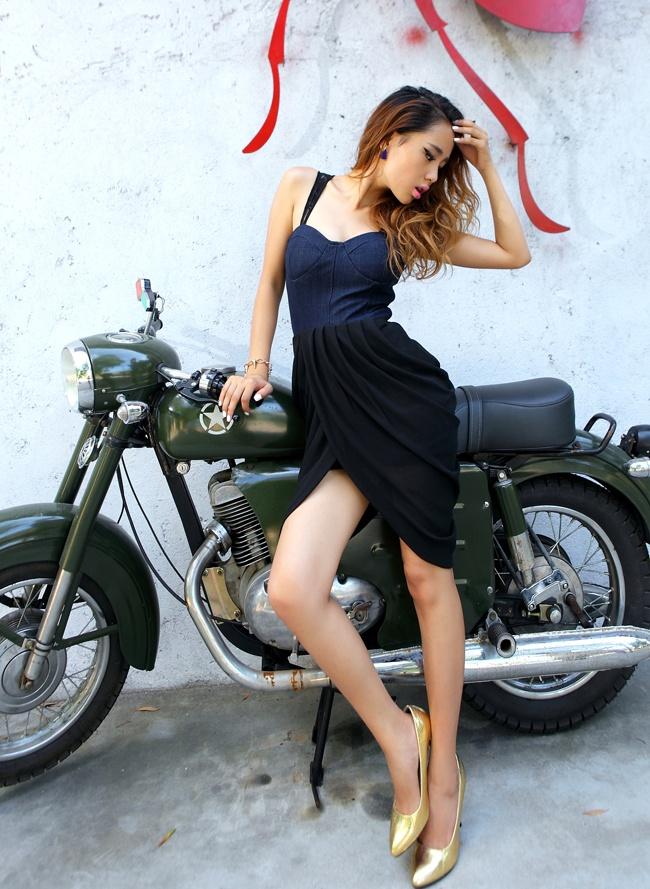 black irregular chiffon dressDresses Crafts, Minis Dresses, Minis Dog Qu, Irregular Chiffon, Minis Length, Denim Irregular, Chiffon Dresses, Black Irregular, Waist Minis
