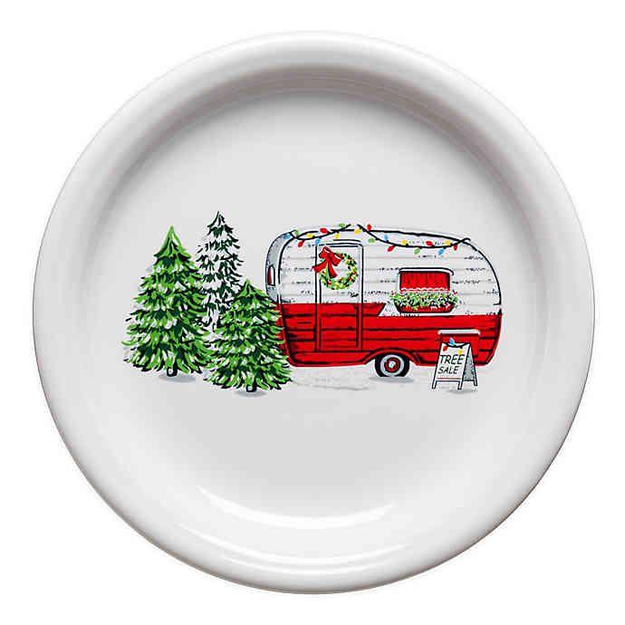 Fiesta Christmas Trailer Bistro Salad Plate Christmas Tree Lots Christmas Dinnerware Christmas Trailer