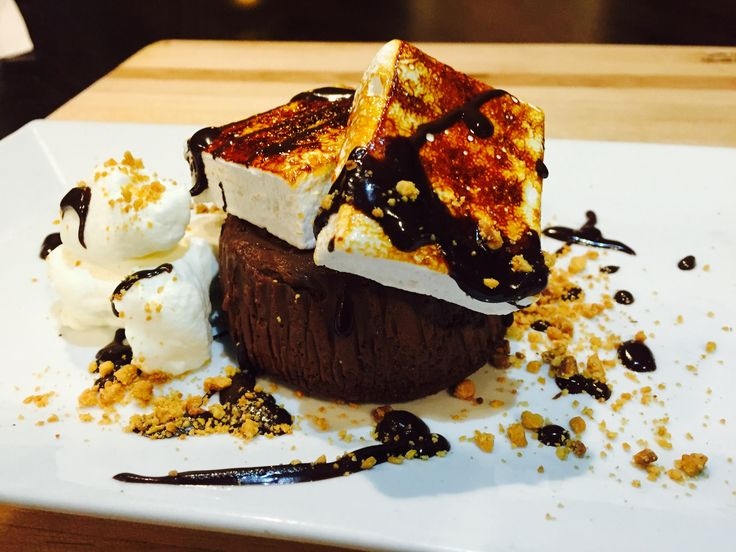 dark chocolate cheesecake with house made marshmallows, roasted almonds and sweet cream