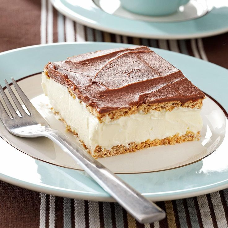Thelma's Chocolate Eclair Recipe -I love eclairs but making the actual pastry is difficult so I came up with this recipe as a substitute. It still satisfies my cravings with the same wonderful flavors.—Thelma Beam, Esbon, Kansas