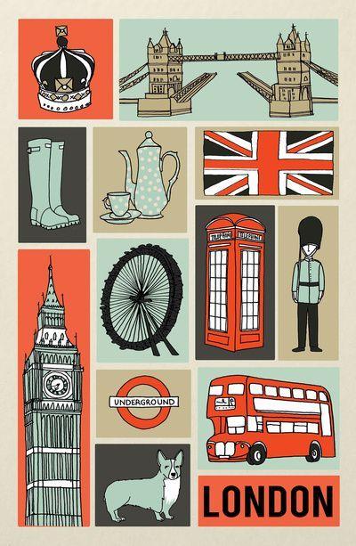 London illustration by Andrea Lauren
