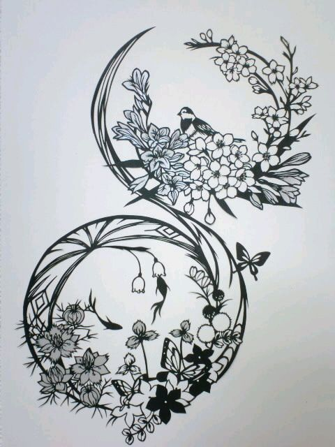 Tattoo idea: bird, Floral, Circle, placement on hand?