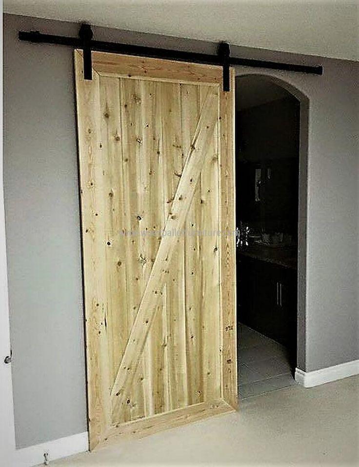 pallets made sliding door