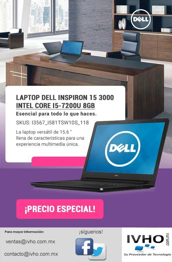 """¿Buscas un buen equipo multimedia? Esto es para ti.  El 15,6 """"Inspiron 15 3000 Series de Dell es un sistema duradero diseñado para el usuario de todos los días que buscan navegar por Internet, chat de video, música, componer y editar documentos."""
