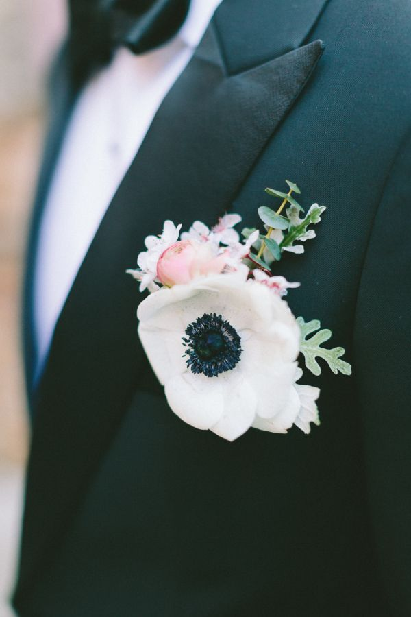 Simply gorgeous boutonniere: http://www.stylemepretty.com/destination-weddings/france-weddings/2016/08/20/definitely-not-your-average-winter-wedding/ Photography: French Grey - http://frenchgreyphotography.com/