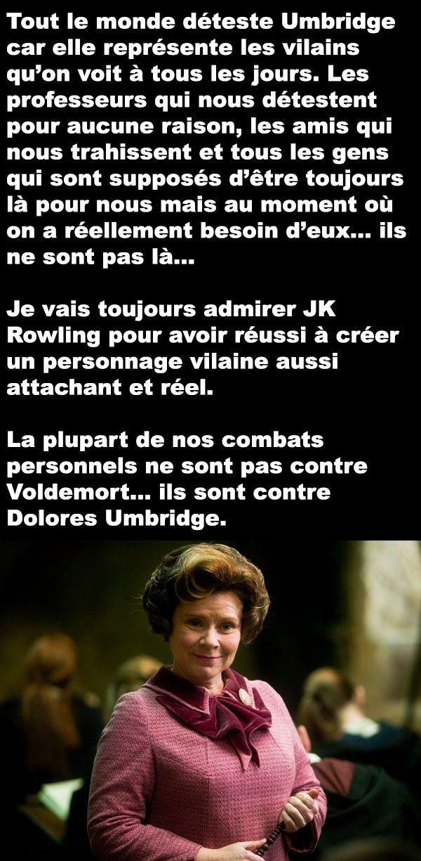 La réalité de Dolores Umbridge - ConneriesQc