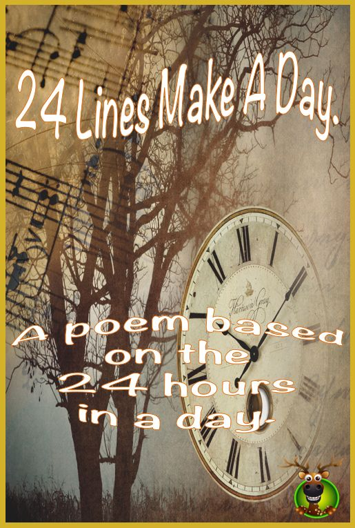 Poetry & Maths - '24 Lines Make A Day' is a poem based on the 24 hours of a day. It is performed by the poet - David Horner.