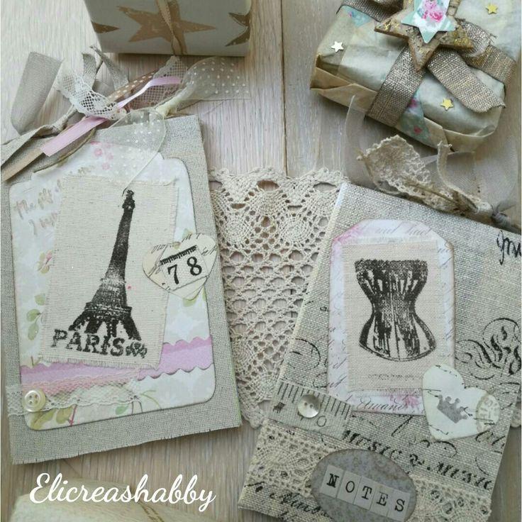 Notes in tessuto personalizzati Elicreashabby hand made