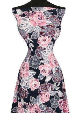 175e4a978324 Úplet ITY ružový kvet  pogumovaný vzor