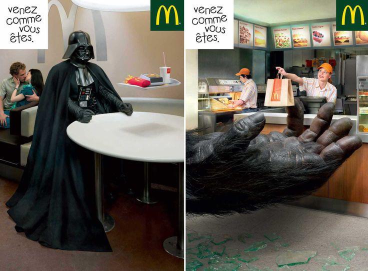 Una raccolta delle campagne pubblicitarie del colosso del fast food: McDonalds! Tra fotomontaggi e illustrazioni, ecco come il brand ha fatto la storia.