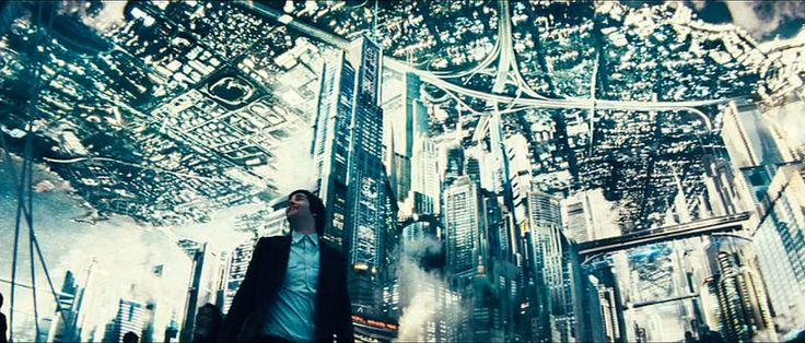 Upside Down, Adam seeing cities on the nearby planet for the first time, overleaf skyways, 2012 Canadian-French romantic science fiction film, written and directed by Juan Diego Solanas, starring Jim Sturgess
