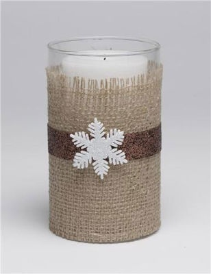 #Eco-chic #Trend #Burlap Wrapped #Candle