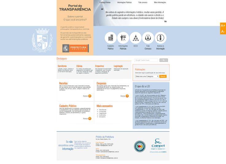 Portal da transparencia desenvolvido para a Prefeitura Municipal de Pelotas. #FrontEnd