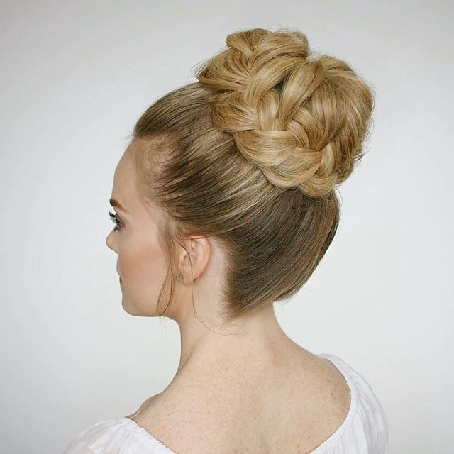 1000+ Ideas About Braided Bun Hairstyles On Pinterest