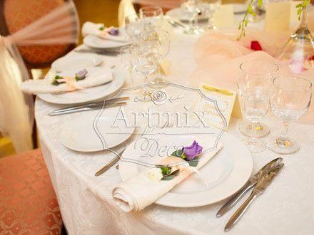 Оформление столов гостей на свадьбу. Украшение на свадебное торжество в особняке…