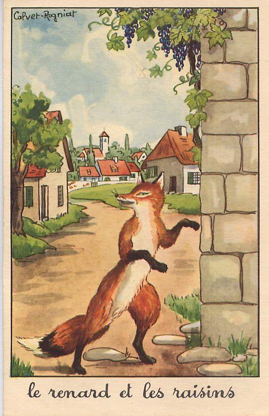 Le renard et les raisins - Fable de Jean de la Fontaine (1621 - 1695)