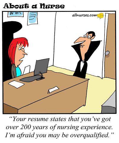 cartoon nurse dracula overqualified nurse allnurses cartoon humor funny - Halloween Humor Jokes