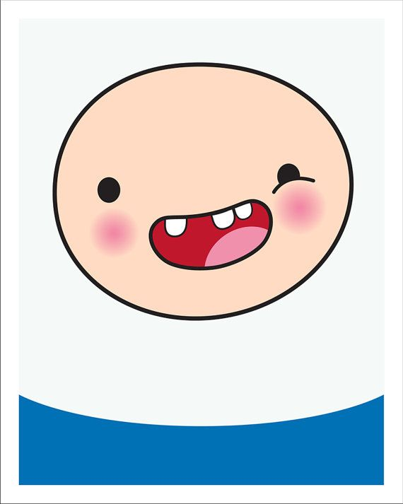 Adventure Time Finn the Human 8x10 print by CandyColorWorld, $12.00