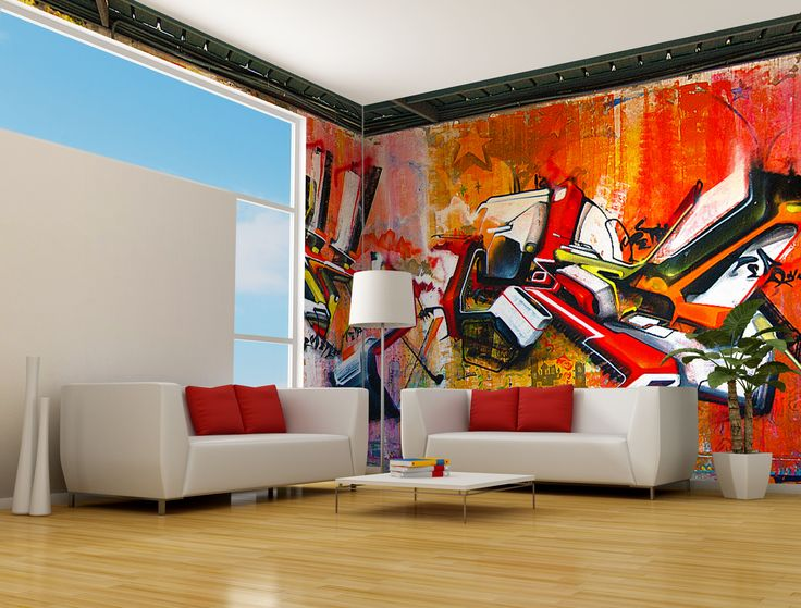 Residential Interior Design Featuring Italian Street Artist V3RBO Fresh And Clean