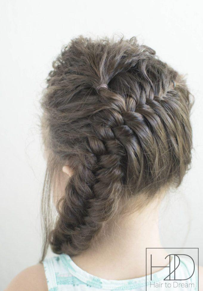 Diagfishtail01 Toddler Hair Braided Ponytail Hairstyles Fish Tail Braid
