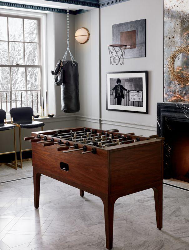 Zone Wood Foosball Table Cb2 Cb2 Foosball Table Wood Zone In 2020 Foosball Table Furniture Design Modern Interior Decoration Bedroom