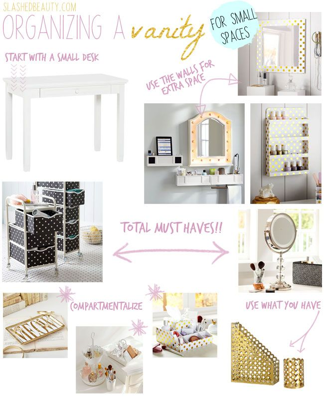 Organizing a Vanity for Small Spaces - Slashed Beauty