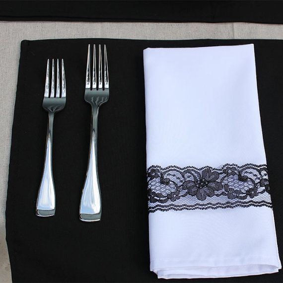 Black Placemat 12 x 16 inches Black Fabric Placemats