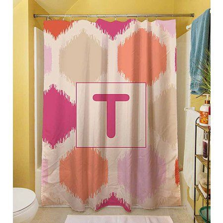 gold and pink shower curtain. Thumbprintz Batik Monogram Pink Shower Curtain Best 25  shower curtains ideas on Pinterest showers