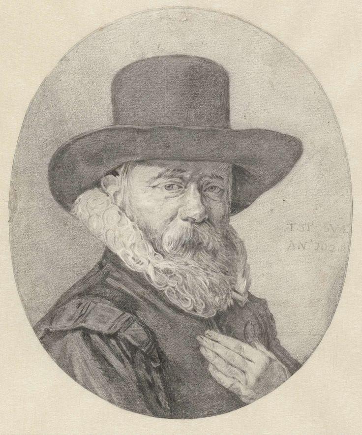 Portret van een man, wellicht Theodorus Schrevelius, Frans Hals, 1628 - 1686
