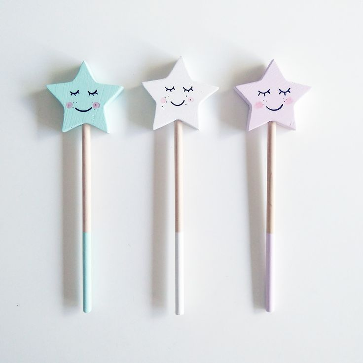 Pastel magic wands by Foxella & Friends