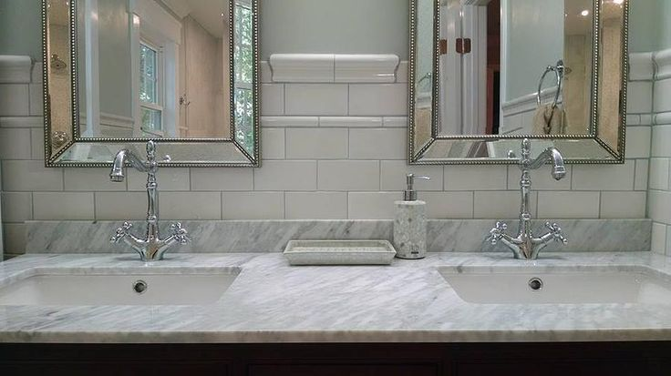 Nailedit Master Bathroom Reveal Subway Tile Chair Rail
