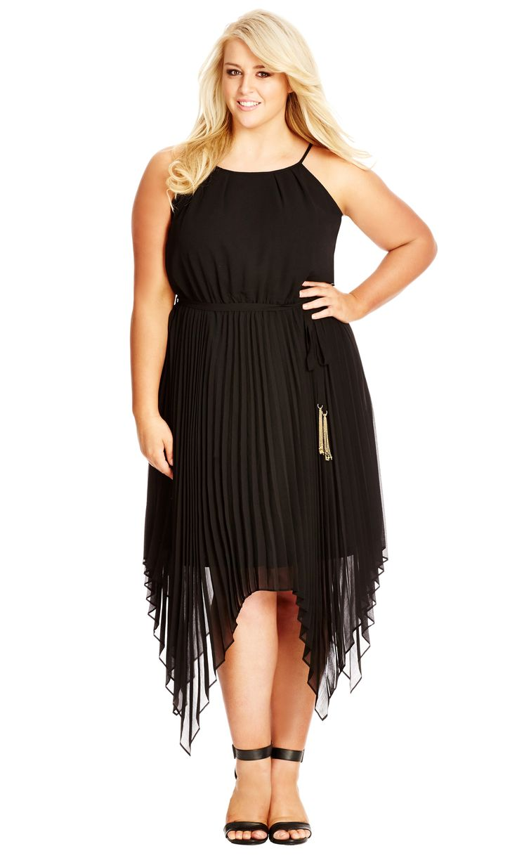 Women's Plus Size Divine Pleat Maxi Dress - Black in black | CityChicOnline.com