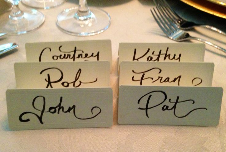 Calligraphy for small dinner party @Shanna Freedman Nicole Design