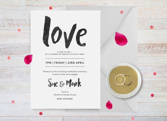 Engagement party invitation Engagement by ThePrintableShopcom