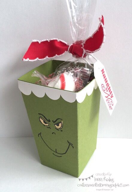 Popcorn box Grinch inspired by Jar of Haunts eye image