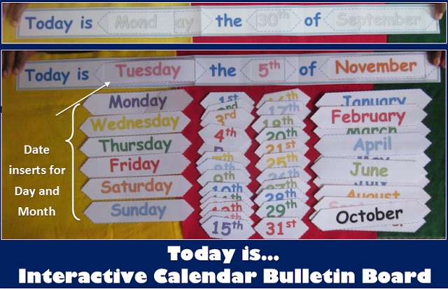 566 best teaching printables games and lessons images on for Calendar bulletin board printables