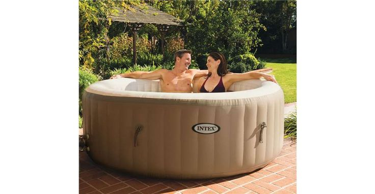 intex pure spa 4 person inflatable portable heated bubble hot tub forever black friday home. Black Bedroom Furniture Sets. Home Design Ideas