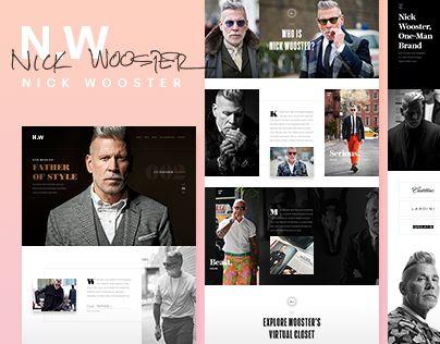 다음 @Behance 프로젝트 확인: \u201cNick Wooster - website\u201d https://www.behance.net/gallery/42235083/Nick-Wooster-website