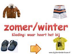 Zimné a letné oblečenie