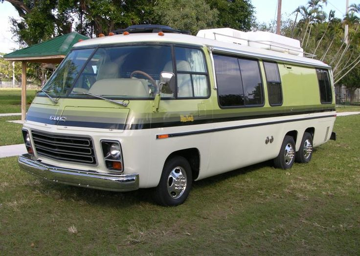 The GMC Motorhome is a front-wheel-drive vehicle. Description from gmcers.org. I searched for this on bing.com/images
