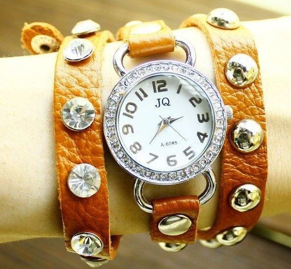 New design leather wrap around watch