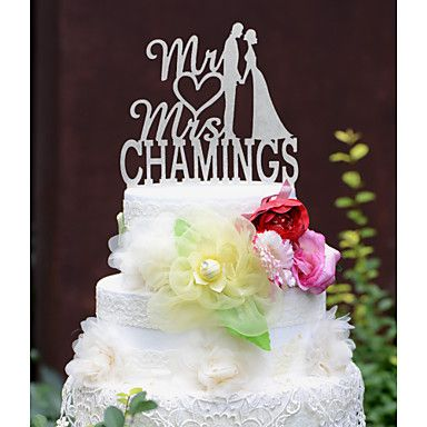 Personalized+Wedding+Cake+Topper+with+Couples+Last+Name+–+USD+$+29.99