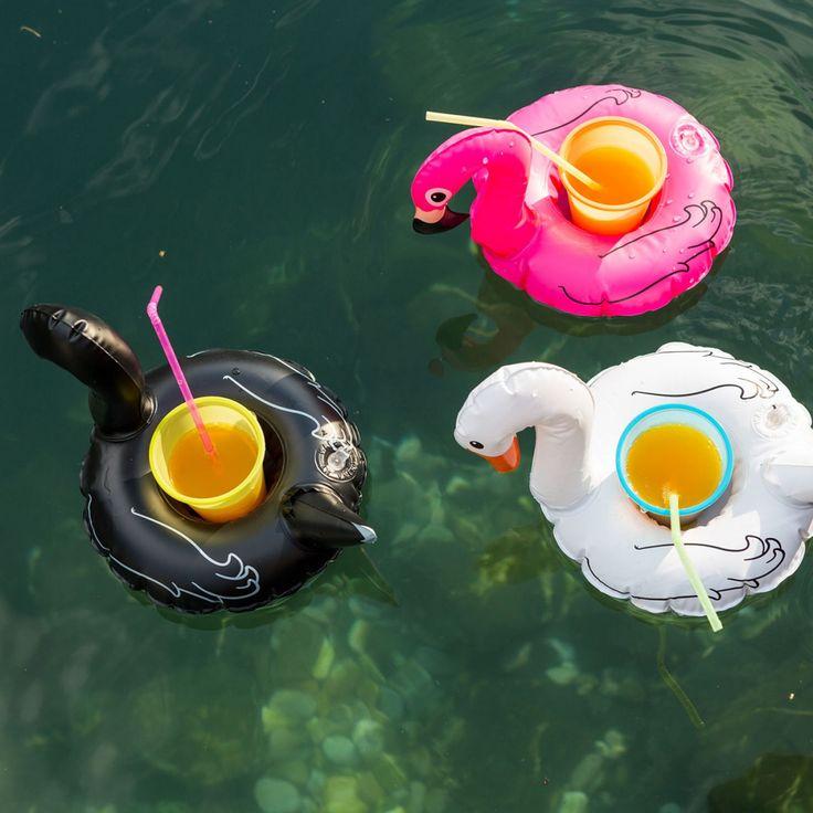 Set van 3 zwemmende vogel bekerhouders