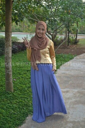 Ghaziya Stripe Skirt blue Available at www.button-hole.net Instagram @buttonhole_