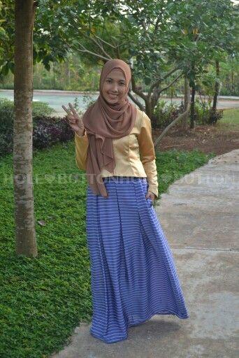 Ghaziya Stripe Skirt blue Available at www.button-hole.net Instagram @buttonhole_