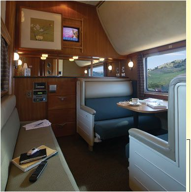 The Puget Sound private rail car lounge diner by Train