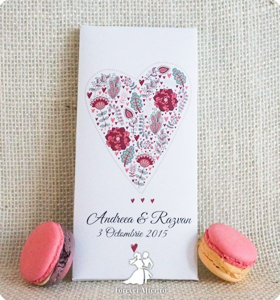 Invitatie de nunta cutie cu ciocolata Love chocolate