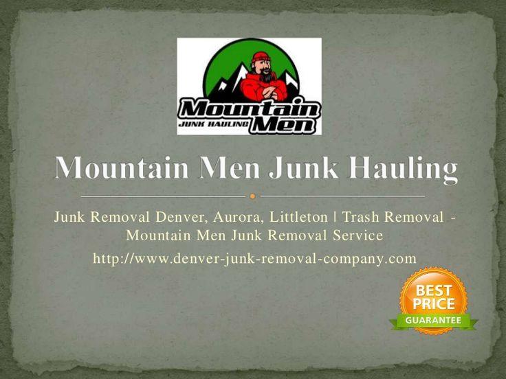 Junk Removal Denver,Aurora, Littleton, CO.- Mountain Men Junk Hauling (@Mountainmenjunk) offers quality Denver junk removal and trash hauling service to the Denver metro area.