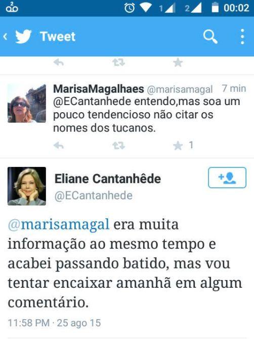 Não deu no Jornal Nacional: Eliane Cantanhêde, cheirosa e desatenta